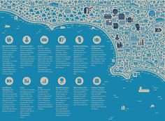 Collection of map illustrations by Jan Feliks Kallwejt, via Behance  Illustration idea