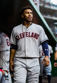 Francisco Lindor of the Cleveland Indians looks on before the game against the Washington Nationals at Nationals Park on August 9 2016 in Washington...
