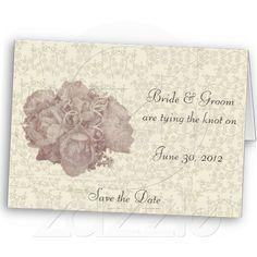 Bouquet Cream Rose Wedding Notecard