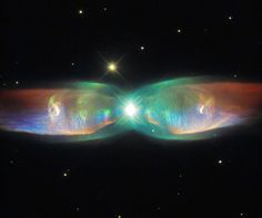 """""""The Twin Jet Nebula, or PN M2-9, is a striking example of a bipolar planetary nebula. Bipolar planetary nebulae are formed when the central object is not a single star, but a binary system"""
