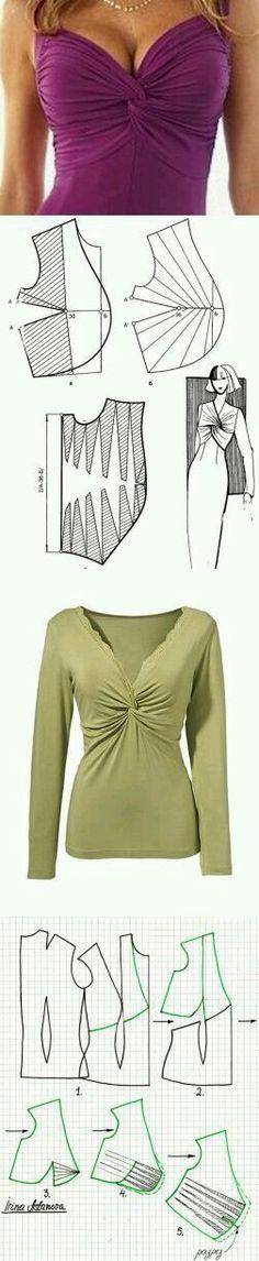Twist knot front blouse.