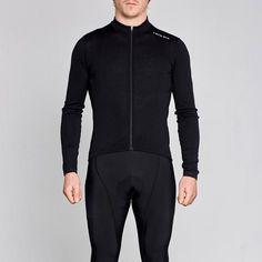 black merino wool long sleeve cycling jersey Men s Cycling 3089d75a2