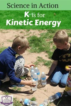 We had a lot of fun experimenting with croquet balls and water bottles as part of our science segment - K is for kinetic energy - in my A to Z STEAM series.