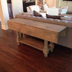 Beautiful Drop Leaf Console Table. This Sofa Table Has Custom Turned Wooden  Legs And