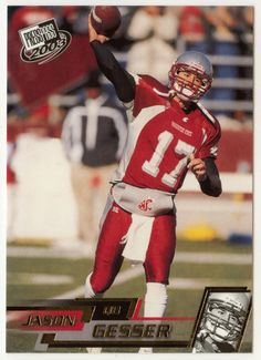 Jason Gesser # G 4 - 2003 Press Pass Football - Gold Zone