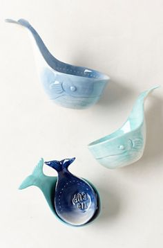 darling blue whale measuring cups