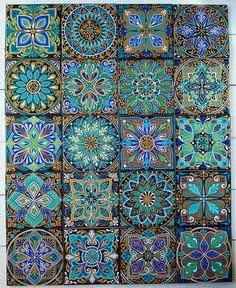 ヌレエヴァ アリナ さんの写真 Mandala Dots, Mandala Pattern, Mandala Design, Pattern Art, Flower Wallpaper, Pattern Wallpaper, Tile Patterns, Textures Patterns, Ceramic Tile Art