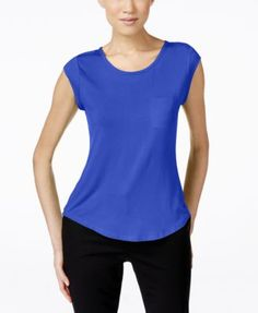 Calvin Klein Cap-Sleeve Pocket Tee $28.99 Calvin Klein's essential pocket tee flaunts an on-trend shape that pairs perfectly with jeans, skirts and everything in between.