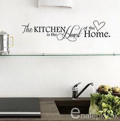 Nálepky na stenu - srdce kuchyne,