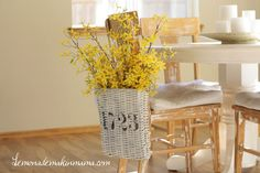 French inspired hanging basket {Etsy}