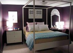 Decoração para quarto de solteiro feminino em cores escuras