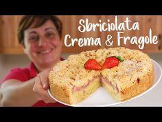 🍓 SBRICIOLATA CREMA E FRAGOLE 🍓 - Ricetta Facile in Diretta - YouTube Biscotti, Cake Recipes, Sweets, Make It Yourself, Fruit, Cooking, Breakfast, Food, Youtube