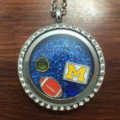 Michigan Football Floating Charm Locket $27.99