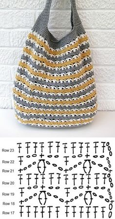 Slouchy Market Bag, free pattern from Very Berry Handmade. Pretty stitch pattern . ./ . . . . #crochet