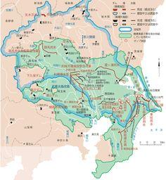 利根川水系・荒川水系 流域図