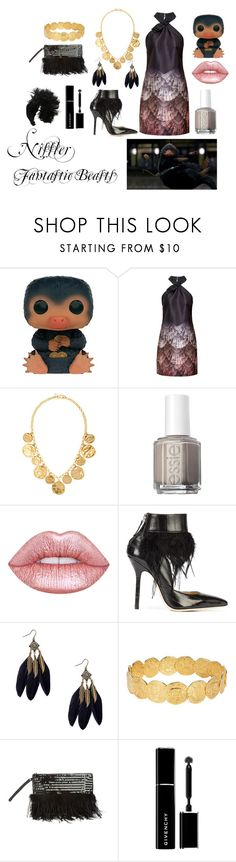 Niffler by madelinem-2002 on Polyvore featuring Ted Baker, Racine Carrée, Miss Selfridge, Joy Everley, Kenneth Jay Lane, Nanà Firenze, Lime Crime, Givenchy, Essie and Funko