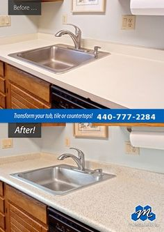 Don't replace - refinish! : If you are looking for affordable countertop refinishing solutions in North Olmsted, OH, call Miracle Method of Cleveland. We refinish countertops and save you time and money!