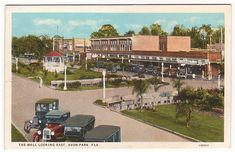 Florida Backroads Travel vintage postcard of The Mall, Avon Park, Florida.