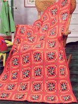 Free Child's Pinwheel Squares Crochet Afghan Pattern