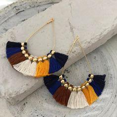 Tassel earrings Boho bohemian earrings clip on earrings hypoallergenic earrings colorful chunky large earrings clip ons drop earrings Small Gold Hoop Earrings, Tassel Earrings, Clip On Earrings, Stud Earrings, Tassel Jewelry, Bridal Jewelry, Gemstone Jewelry, Etsy Jewelry, Jewelry For Her
