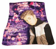 Justin Bieber Brix Design Fleece Throw Blanket