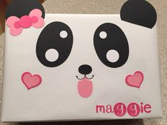 My Daughter Maggieu0027s Cutie Panda Valentineu0027s Box.