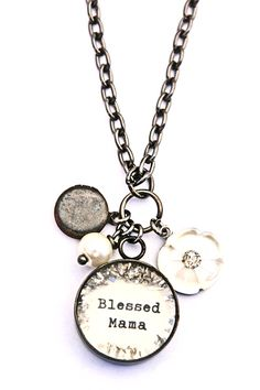 Blessed Mama Locket Necklace [VN33] - $55.00 : Beth Quinn Designs , Romantic Inspirational Jewelry
