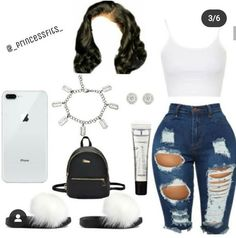 Edgy Fall Outfits, Baddie Outfits Casual, Boujee Outfits, Swag Outfits For Girls, Cute Swag Outfits, Teenage Girl Outfits, Teen Fashion Outfits, Dope Outfits, Girly Outfits