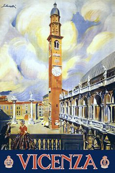 Vicenza by Silvestri Italy Vintage Italian Travel Poster Art Print
