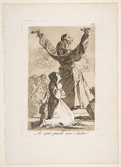 Goya (Spanish, 1746–1828). What a tailor can do! (Lo que puede un sastre!), from The Caprices (Los Caprichos), plate 52, 1799. The Metropolitan Museum of Art, New York. Gift of M. Knoedler & Co., 1918 (18.64(52)) #halloween