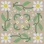 The Floss Box   Biscornu 332 Pdf pattern
