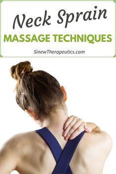Massage Techniques for a Neck Sprain Neck Sprain, Neck Injury, Shoulder Pain Relief, Back Pain Relief, Neck Exercises, Shoulder Massage, Getting A Massage, Massage Techniques, Foot Pain