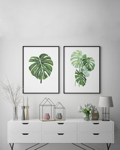 Monstera Leaf Watercolor Art, Botanical Art Print
