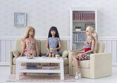 Barbie ropa y accesorios: Tutorial: sillón escala 1:6: