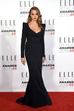 Cara Delevingne at the ELLE Style Awards. See all of the model's best looks.