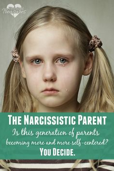 "Parents of this generation are becoming too involved with ""me"" time and in turn are focusing on themselves instead of their children. Are you narcissistic?"