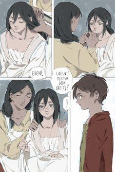 Canon Ship, Eren And Mikasa, Eremika, Titans Anime, Attack On Titan Anime, Kawaii Anime Girl, Beautiful Images, Fan Art, Comics