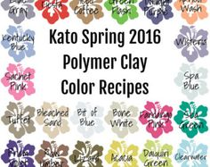 Kato Fall 2016 Polymer Clay Color Recipe Ebook by craftsbychris