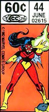Marvel corner box art - Spider-Woman