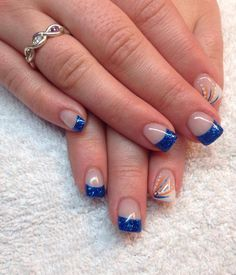Okc thunder nail design nail designs pinterest beauty edmonton oilers inspired prinsesfo Images