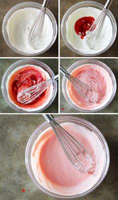 Made with greek yogurt and blood orange juice
