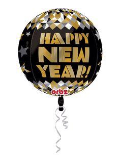 Globo aluminio dorado Happy New Year
