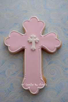 12 First Communion Cross Cookies Baptism Christening Favors