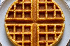cornbreadwaffles: replace the egg with flaxseed, the butter with coconut oil, and the honey with maple syrup.