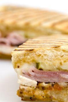Cuban Midnight Sandwich with Ham, Turkey & Swiss Cheese #Recipe