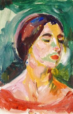 Edvard Munch - Birgit Prestøe, Portrait Study - Munch-Museet - Oslo (Norway)	 Painting - oil on canvas