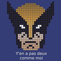 Wolverine citation Pixel Art