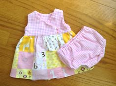 Premature/Preemie+Baby+Patchwork+Dress+Jumper+by+ShesSoPrecious