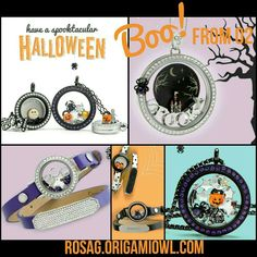 Origami Owl 2016 Spooktacular Halloween collection.  Get your Limited Edition charms today at www.rosag.origamiowl.com