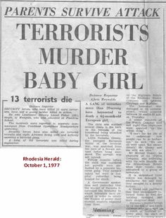 Our Rhodesian Heritage: Baby& Death Condemned Military Archives, Military Insignia, African History, Fun Facts, Death, Zimbabwe, Teaching, Crime, Books